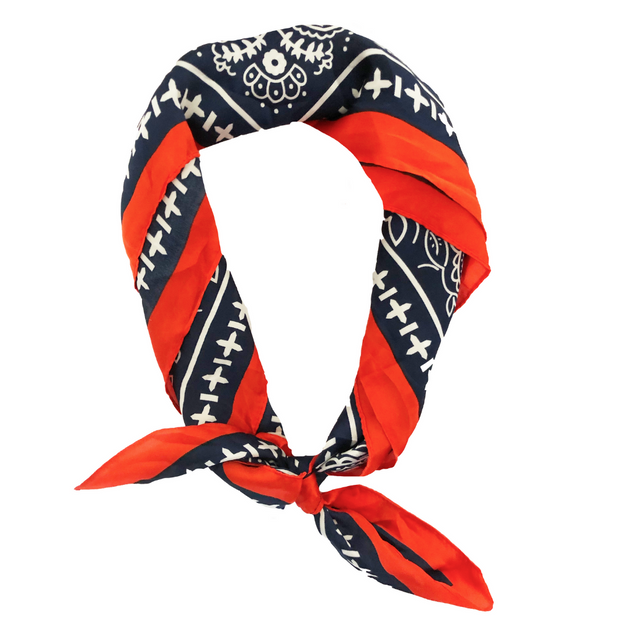Rodeo Headscarf in Red, White & Blue-Wholesale 1