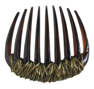 Green / Brown wire wave tortoise comb.