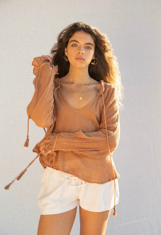 The Dune cotton muslin blouse.