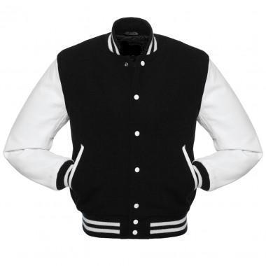 [ 50 % OFF ] MENS WOOL/LEATHER VARSITY JACKET - FREE SHIPPING - AXEOP
