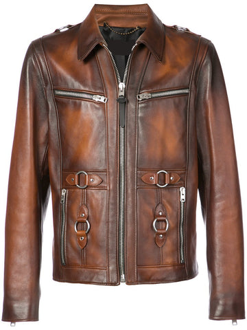 [ 50% OFF ] AMERICAN SHERIFF LEATHER JACKET - 100% GENUINE LEATHER - AXEOP