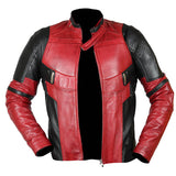 [ 50% OFF ] DEADPOOL WADE WILSON RYAN REYNOLDS LEATHER JACKET - 100% GENUINE LEATHER - AXEOP