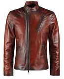 [ 50% OFF ] IRON MAN TONY STARK LEATHER JACKET - 100% GENUINE LEATHER - AXEOP