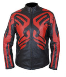 [ 50% OFF ] STAR WARS DARTH MAUL RED & BLACK JACKET - 100% GENUINE LEATHER - AXEOP