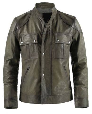[ 50% OFF ] LIMITED EDITION WANTED WESLEY GIBSON LEATHER JACKET - 100% GENUINE LEATHER - AXEOP