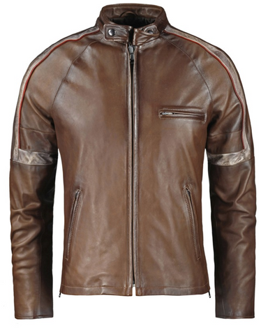 [ 50% OFF ] LIMITED EDITION WAR OF THE WORLDS TOM CRUISE LEATHER JACKET - 100% GENUINE LEATHER - AXEOP