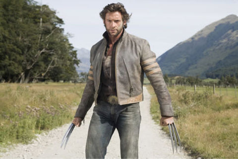[ 50% OFF ] MEN WOLVERINE  BUFFALO-HIDE GENUINE LEATHER JACKET - 100% GENUINE LEATHER - AXEOP