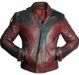 [ 50% OFF ] EXCLUSIVE GUARDIANS OF THE GALAXY VOL. 2 STAR LORD CHRIS PRATT  LEATHER JACKET - 100% GENUINE LEATHER - AXEOP