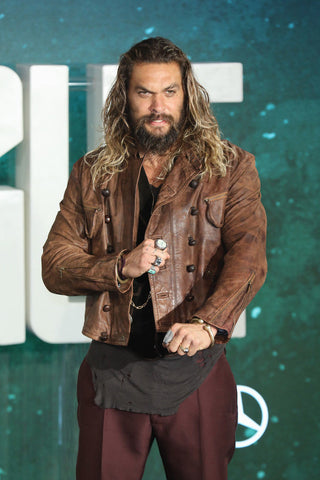 [ 50% OFF ] JUSTICE LEAGUE AQUAMAN DISTRESSED LEATHER JACKET - 100% GENUINE LEATHER - AXEOP