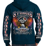 2018 SOUTH DAKOTA 78th BLACK HILLS RALLY HIGH QUALITY HOODIE: UNISEX - FREE SHIPPING - AXEOP