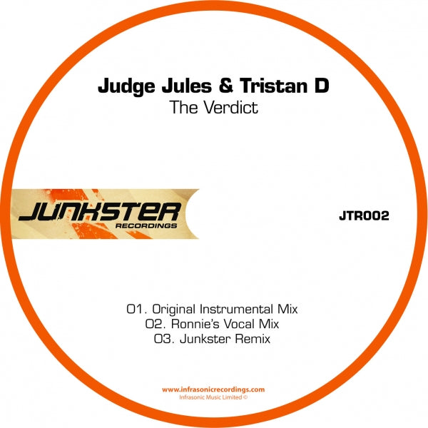 Jtr002 : Judge Jules & Tristan D - The Verdict [CD Single]