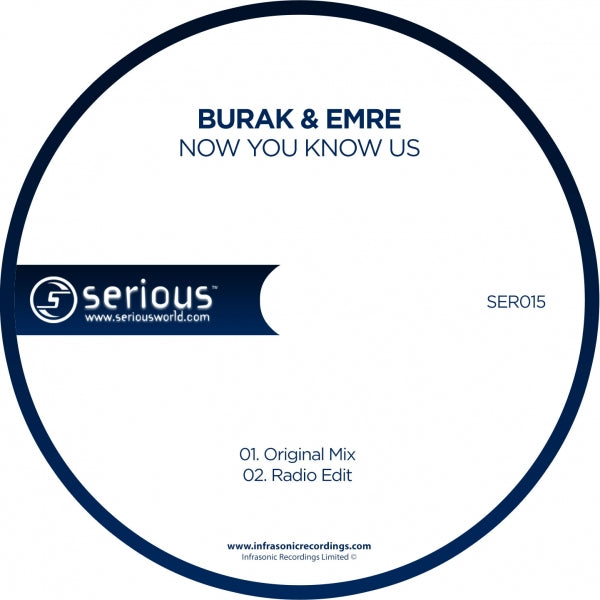 Ser015 : Burak & Emre - Now You Know Us [CD Single]