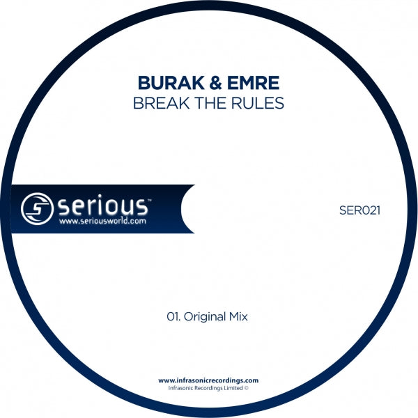 Ser021 : Burak & Emre - Break The Rules [CD Single]