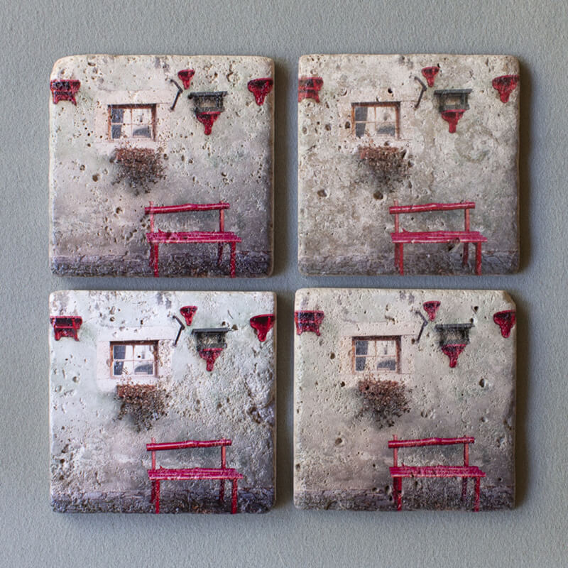 4inch by 4inch textured coaster
