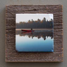 Load image into Gallery viewer, The Red Canoe - On Barn Board 0129