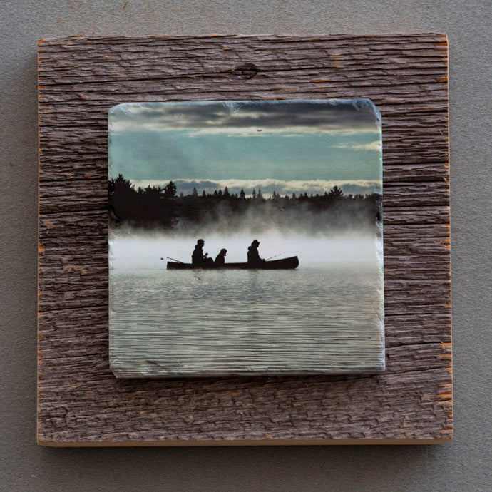 The Morning Paddle - On  Barn Board  0152