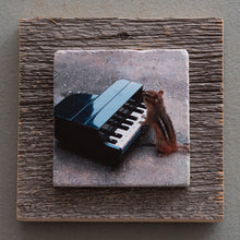 Load image into Gallery viewer, Chippy The Pianist - On Barn Board 0204