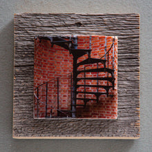 Load image into Gallery viewer, Staircase Art - On Barn Board 0036