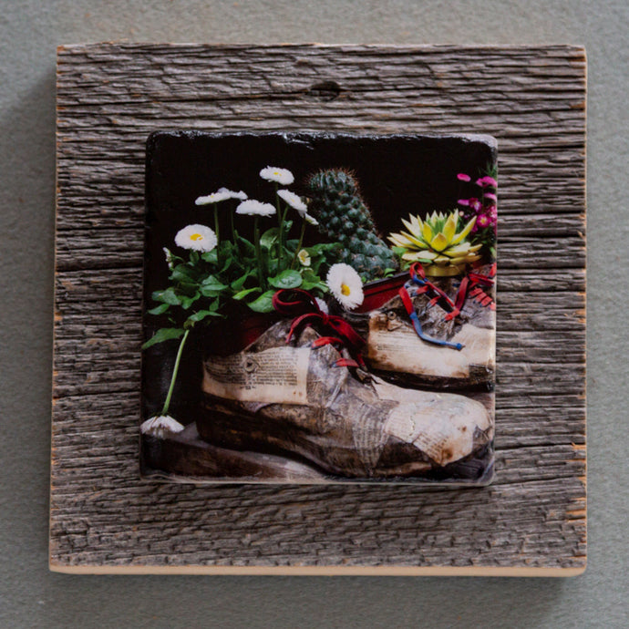 Shoe Art - On Barn Board 0121