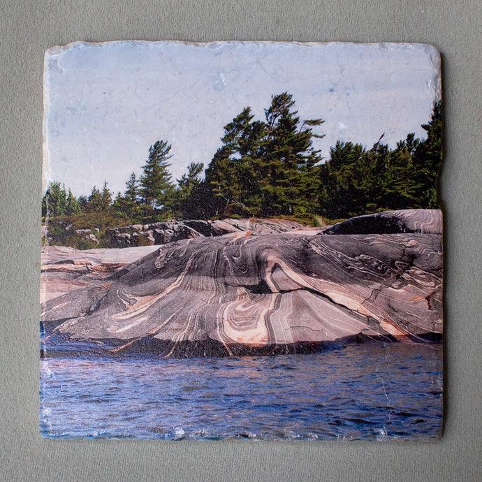 Georgian Bay Rocks Trivet #0243