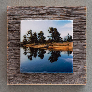 Sunrise Reflections - On Barn Board 1562