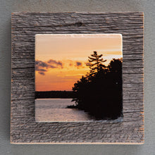 Load image into Gallery viewer, Muskoka Pines Sunset - On Barn Board 0891