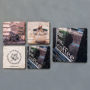 Custom Textured Coasters and Trivet | Set of 5