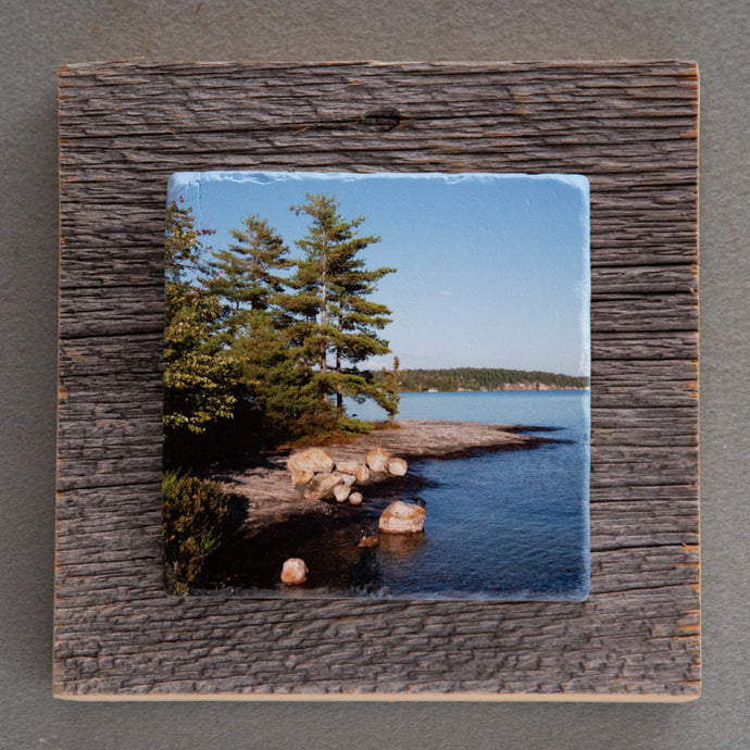Muskoka Lake Joe Point - On Barn Board 5140