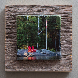 Two By The Lake - On Barn Board 5168