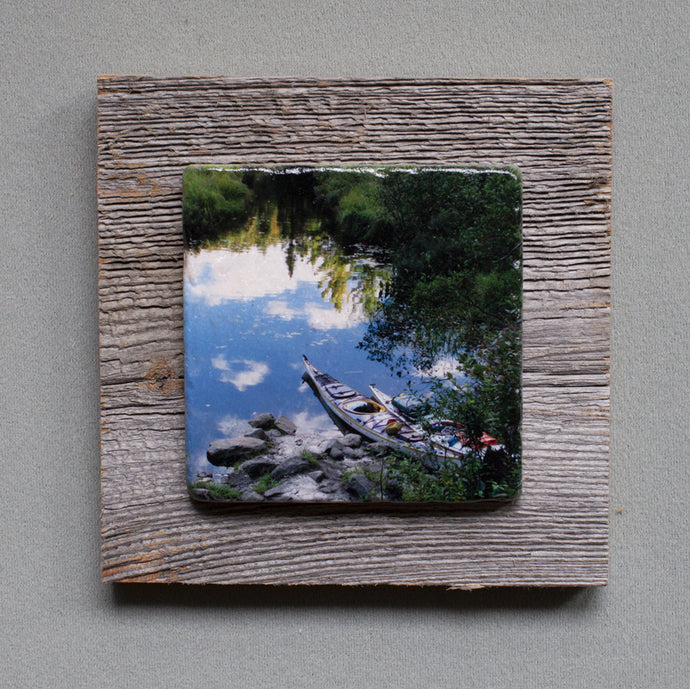 Reflections Of Algonquin - On Barn Board  0329