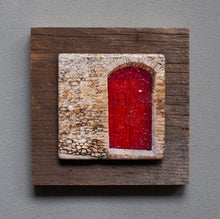 Load image into Gallery viewer, Red Door - On Barn Board 9387