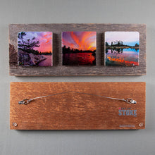 Load image into Gallery viewer, Custom Art Triptych On Barn Board