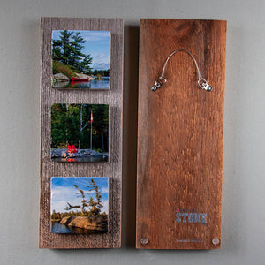Custom Art Triptych On Barn Board
