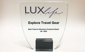 Explora Travel Gear wins LuxLife Magazine's Best Travel & Adventure Products Brand