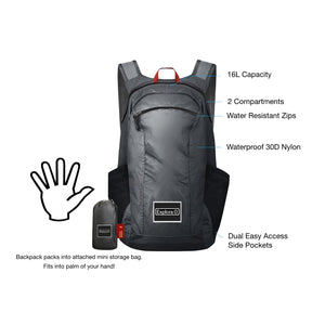 Explora Packable Backpack with attached mini bag