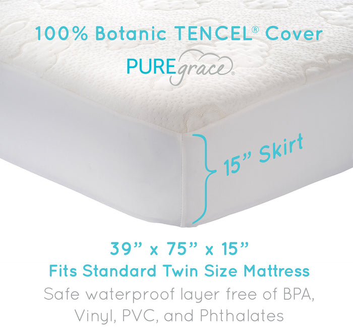 fitted twin mattress pad