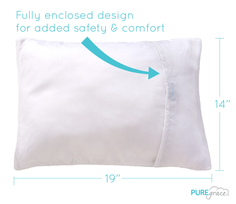 GOTS Certified Organic Toddler Pillow and 100% TENCEL Pillowcase