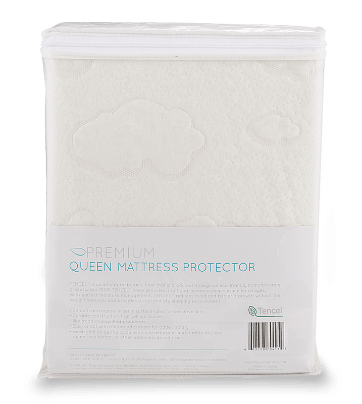 Premium Queen Mattress Protector - JPMA Show Discount