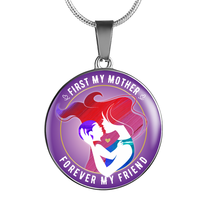 First My Mother Luxury Necklace - Round - - MatZul
