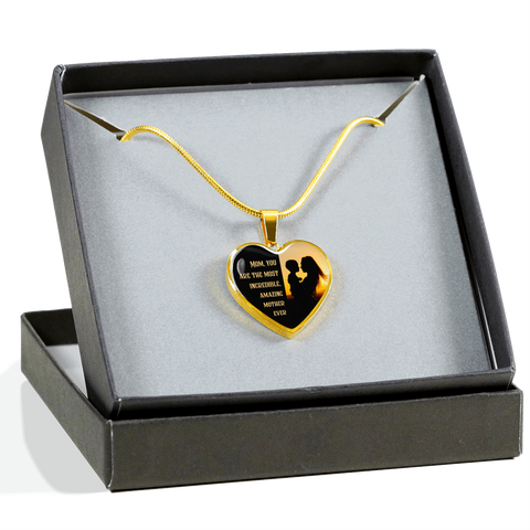 Amazing Mother Ever Luxury Necklace - Heart - - MatZul