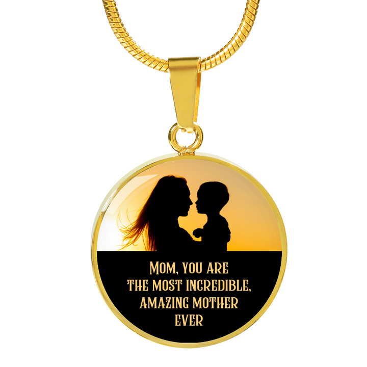 Amazing Mother Ever Luxury Necklace - Round - - MatZul