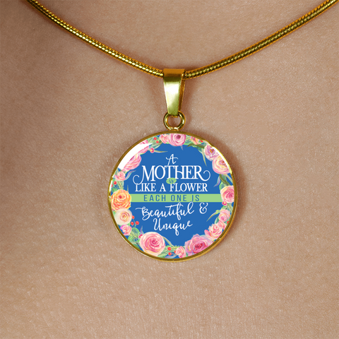 Mother Like a Flower Luxury Necklace - Round - - MatZul