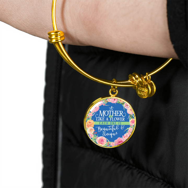 Mother Like a Flower Luxury Bangle - Round - - MatZul
