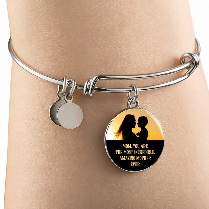 Amazing Mother Ever Luxury Bangle - Round - - MatZul