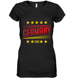 GERMANY Women's V-Neck T-Shirt - MatZul