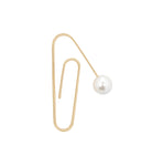 GOLD OVERSIZED PAPERCLIP WITH PEARL