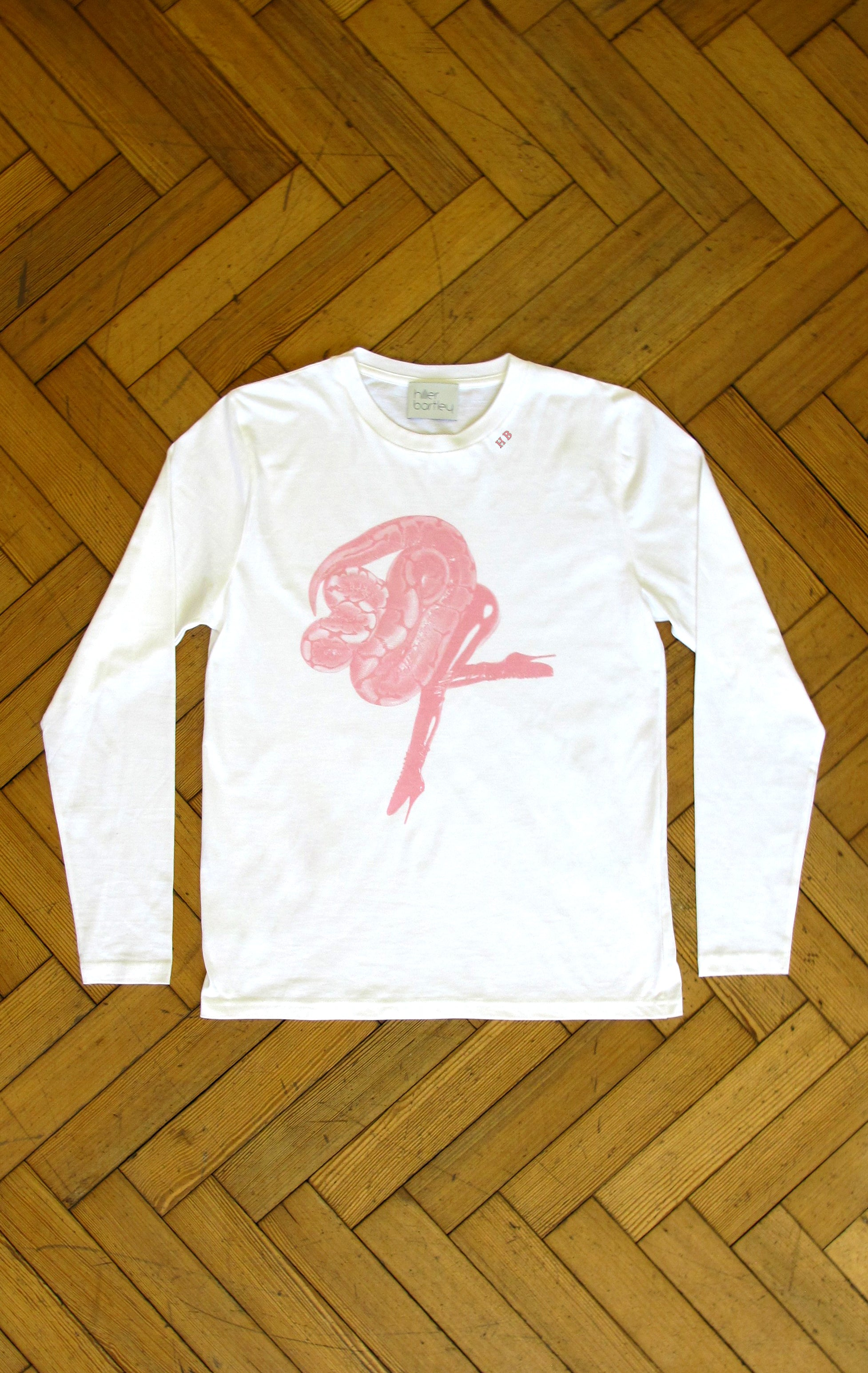 LADYSNAKE WHITE LONG SLEEVE T-SHIRT