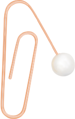 ROSE GOLD OVERSIZED PAPERCLIP WITH PEARL