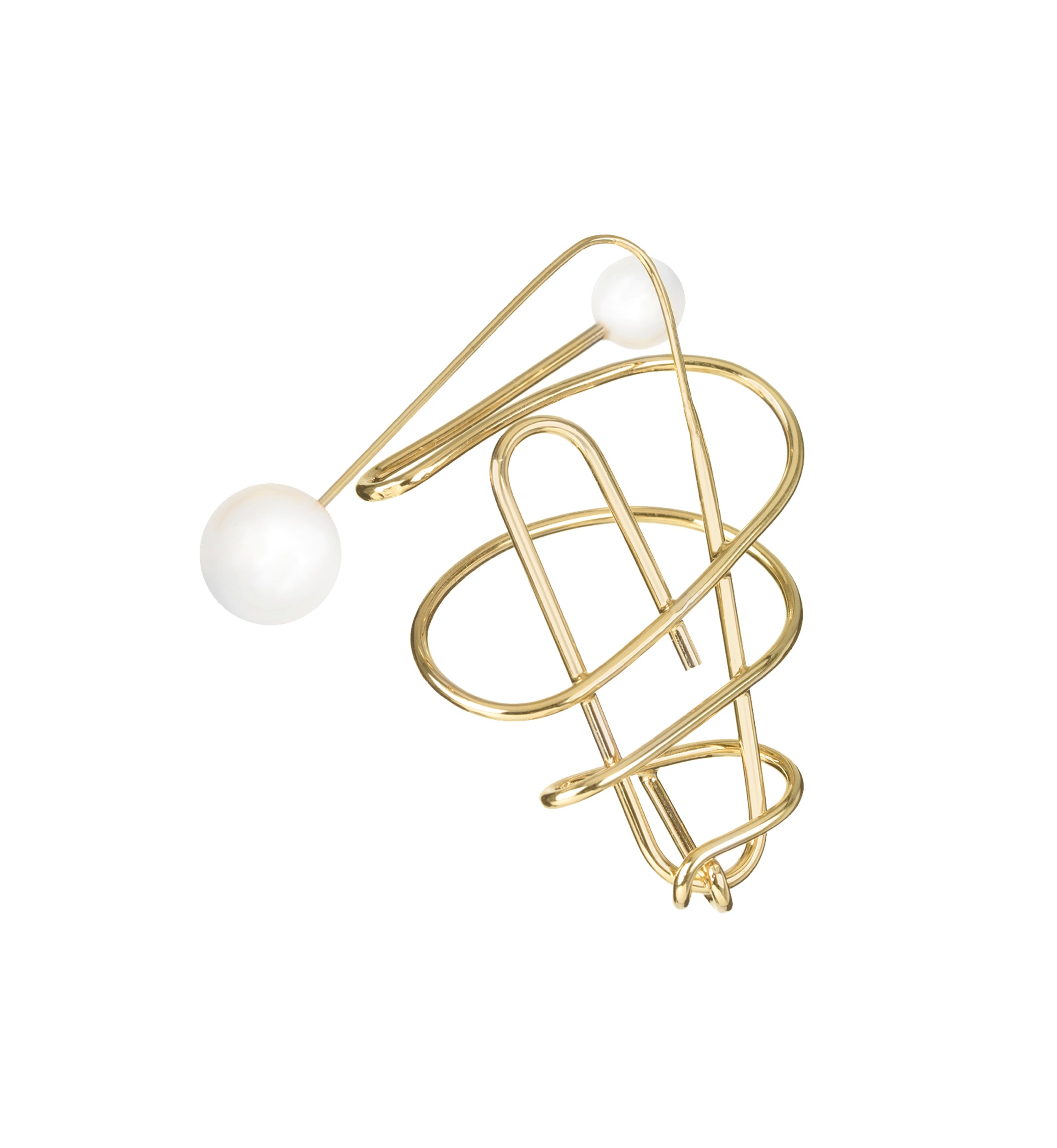 SPIRAL PAPERCLIP EARRING