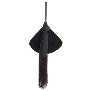 BLACK VELVET LANTERN WITH SILK SCARF